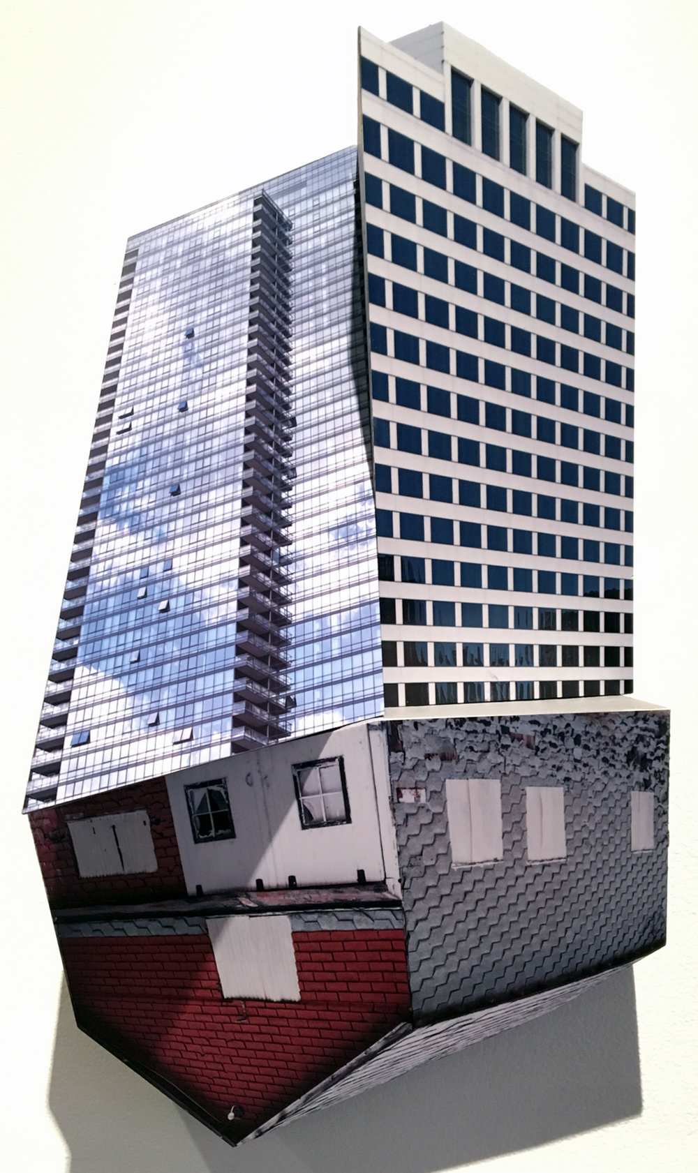 KRISTA SVALBONAS | Migrator 13, 17 x 10 x 4.5 inches / 43 x 25.4 x 11.5 cm, UV print on dibond on mdf, 2018