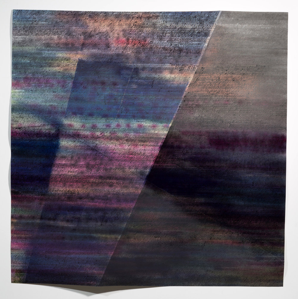 LINDSEY LANDFRIED | Welkin, 58 x 58 inches / 147.3 x 147.3 cm, acrylic on folded paper, 2017