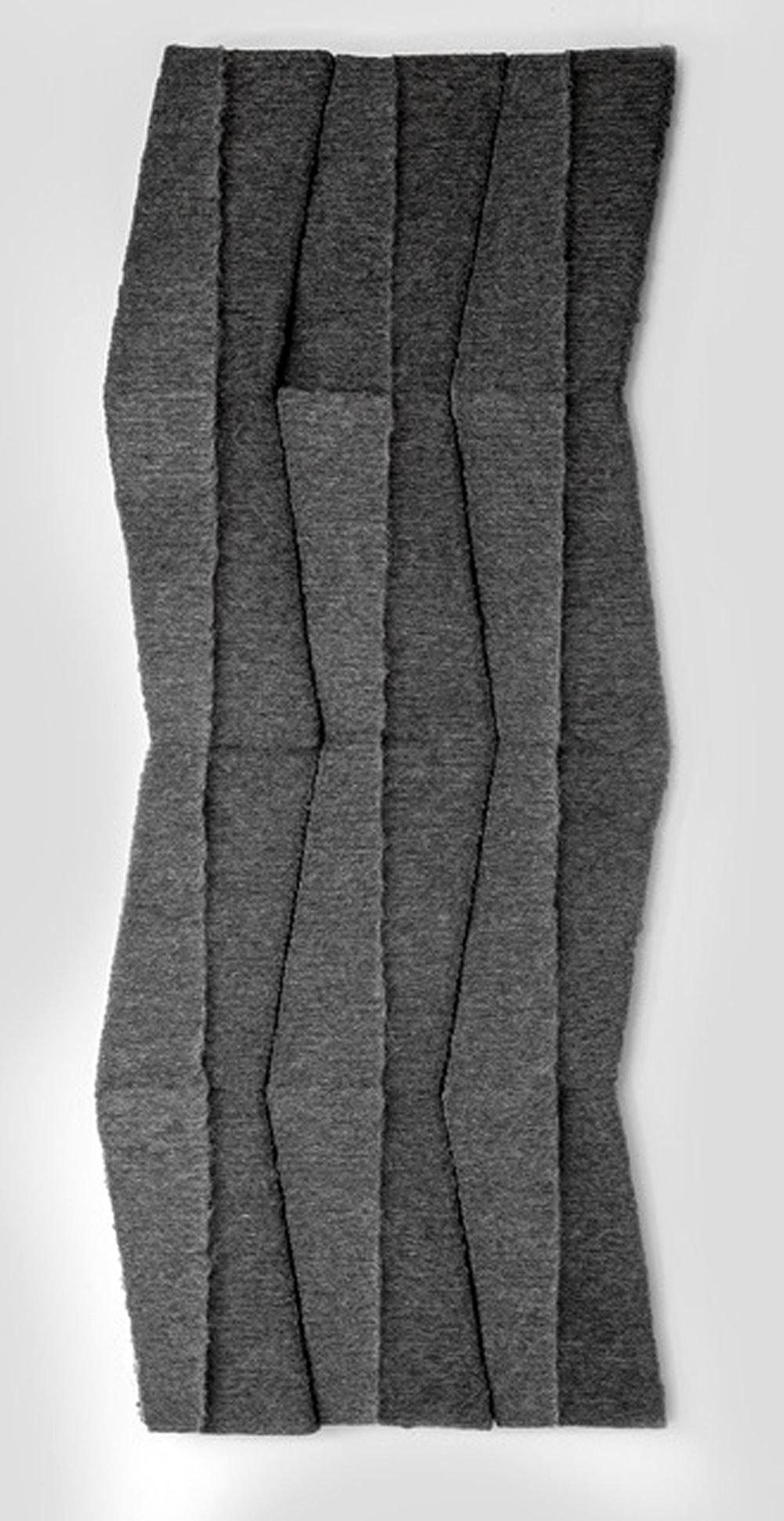 MARCIE MILLER GROSS | Untitled (Zig Zag), 66 x 25 x 2 inches / 168 x 64 x 5 cm, wool industrial felt, 2015