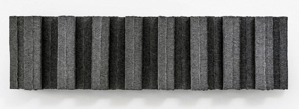 MARCIE MILLER GROSS | Sheared #3, 18 x 68.5 x 7 inches / 46 x 174 x 18 cm, wool industrial felt, 2012