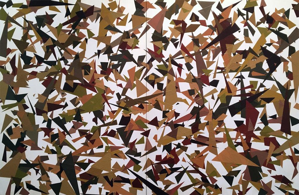JOHN SYNER | Hazel, 24 x 36 inches / 61 x 91 cm, acrylic on panels, 2017