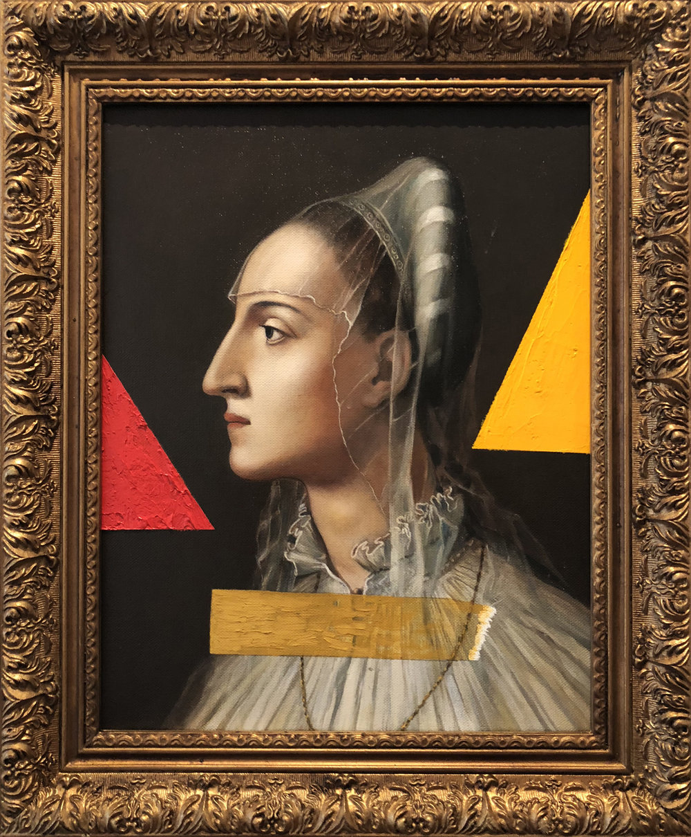 Untitled - Bronzino 1 (Paradigm Series), 14 x 11 inches / 35.5 x 28 cm, oil on canvas, 1998