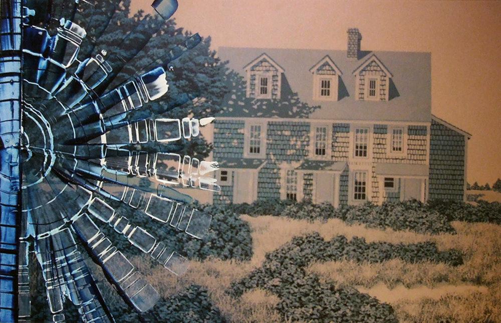 North Carolina 1, 12 x 18 inches / 30.5 x 45.7 cm, galkyd oil on chromogenic print, 2011
