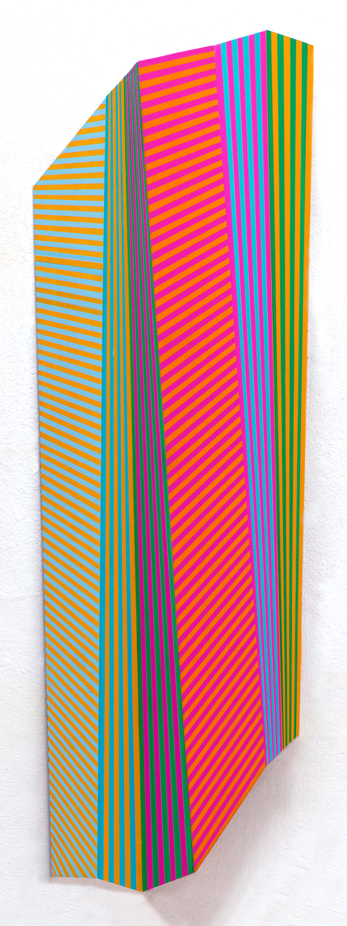 KARTIKEYA II, 55 x 17.75 x 1.5 inches / 140 x 45 x 3.8 cm, acrylic on formed aluminum panel, 2015