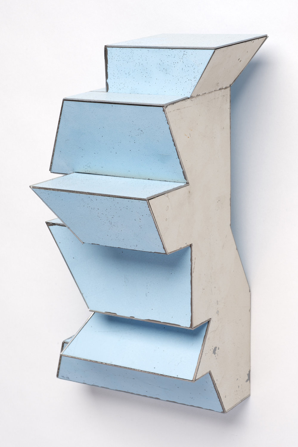 Traffic Flow, 9 x 5 x 5 inches / 22.9 x 12.7 x 12.7 cm, salvage steel, marine-grade plywood, silicone, vulcanized rubber, hardware, 2018
