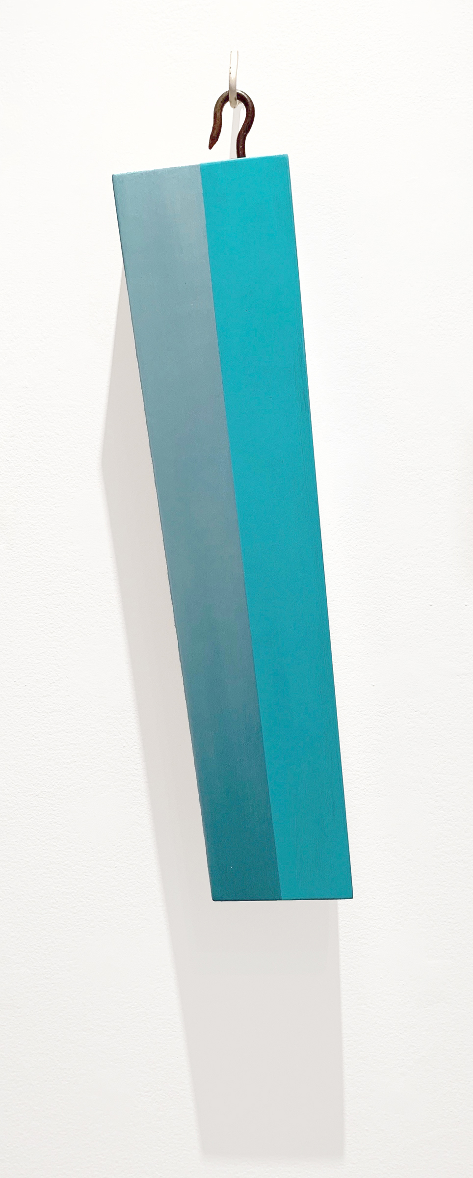 Lost and Found #2, 29 x 5.75 x 4 inches / 73.5 x 14.5 x 10 cm, acrylic on poplar, 2019