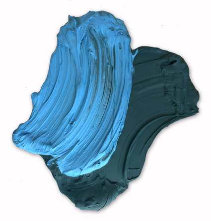 Roraima, 24 x 23 inches / 61 x 58.4 cm, polymer & dispersed pigment on aluminum, 2019