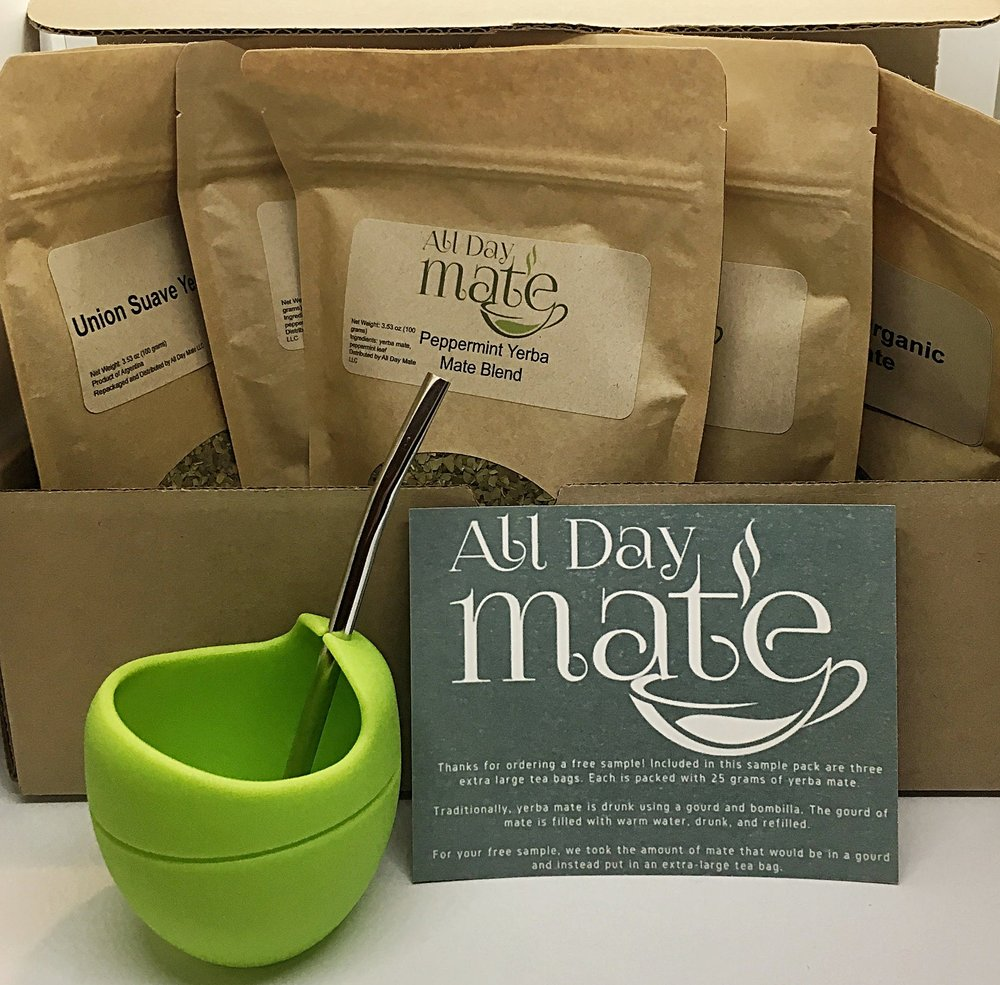 Monthly - $25.00 per month.Your first monthly box is our Welcome Box and ships within 7 days of your order. It includes the following:-Free Silicone Yerba Mate Gourd (dishwasher safe, doesn't leech chemicals, super portable)-Metal Bombilla Straw-200 grams of one of our rotating brands of yerba mate-200 grams of another one of our rotating brands of yerba mate-200 grams of yet another one of our monthly featured brands of yerba mate!(That's over a pound of yerba mate!!)-Easy to understand instructions on how to make yerba mateEach following month you'll receive our MONTHLY BOX which comes packed with the following:-200 grams of premium yerba mate-Another 200 grams of another brand or flavor of premium yerba mate-Another 200 grams of premium yerba mate or yerba mate blend (That's over 1.3 pounds of yerba mate!)-At least 1 unique accessory item to enhance your yerba mate experienceMonthly recurring subscription. Cancel anytime!We ship on the 4th of every month. Only ships within United States.Subscriptions automatically renew on the 11th of every month. Cancel anytime.