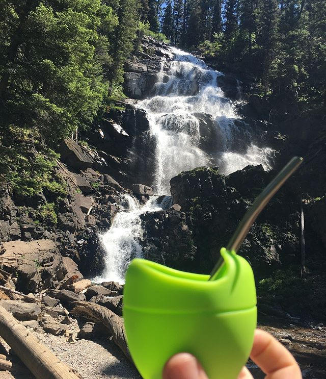 Waterfalls and yerba mate. Sign up for All Day Mate and get a gourd and bombilla in your first box! Check it out! Link in prof.