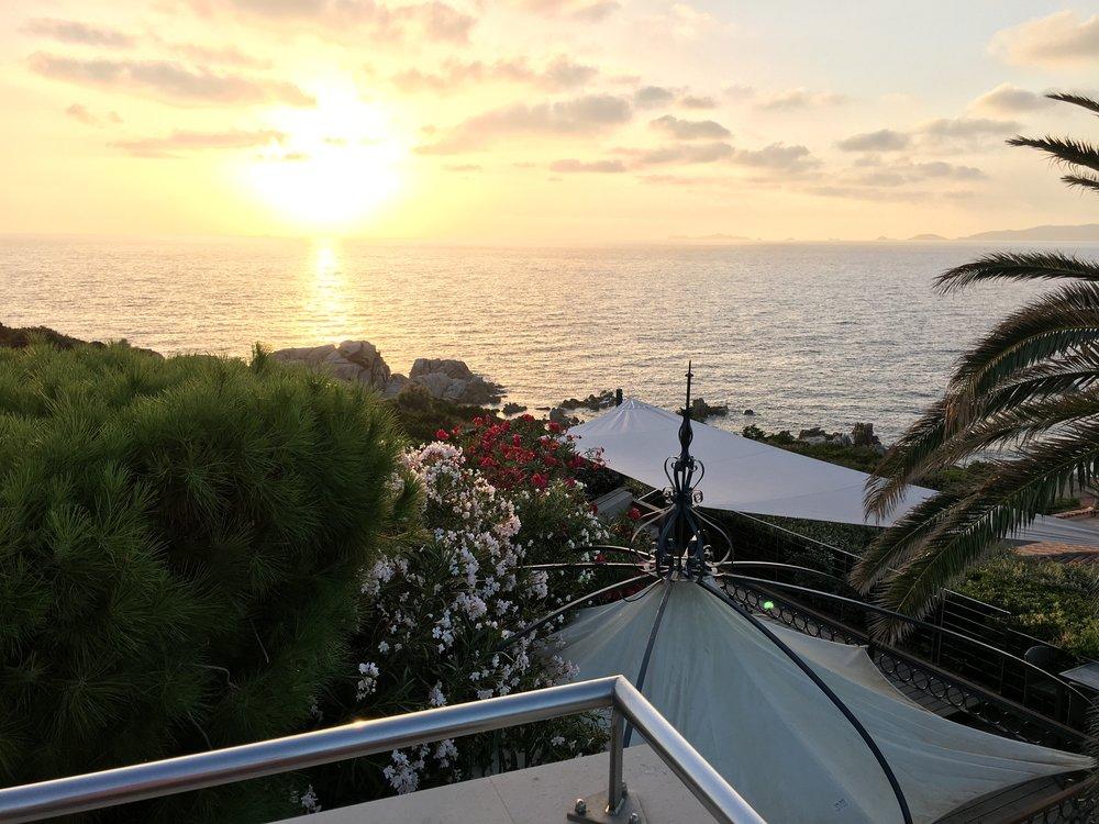 Coucher de soleil terrasse superieure