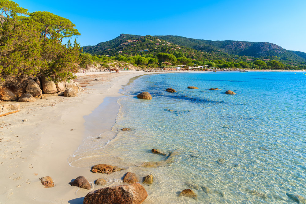 Copy of Crowded corsican beach