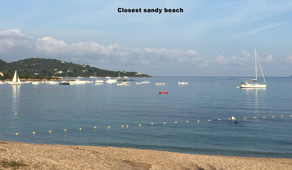 Closest sandy beach