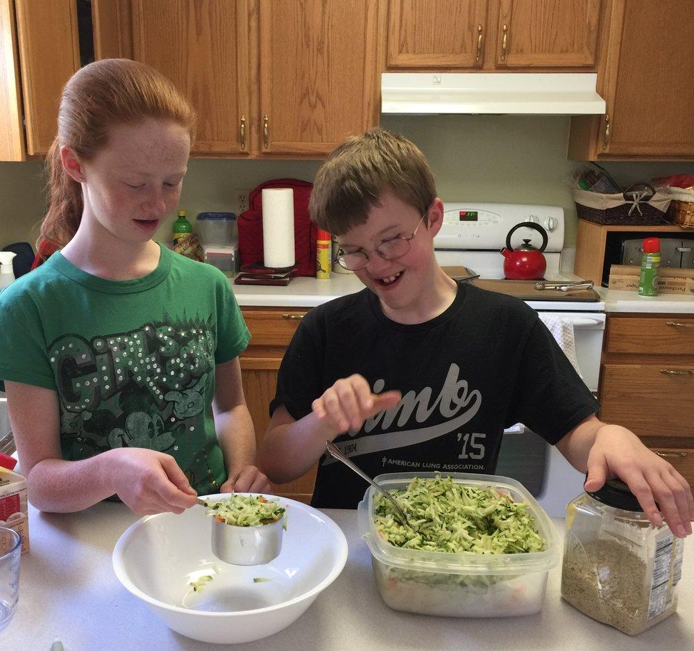 Making Zucchini Bites