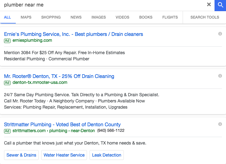 google ads for local business revkey
