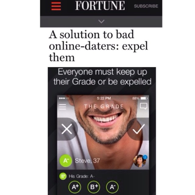 Our client #TheGrade is featured in an awesome article on @fortunemag today! #onlinedating #love #UpgradeYourStandards