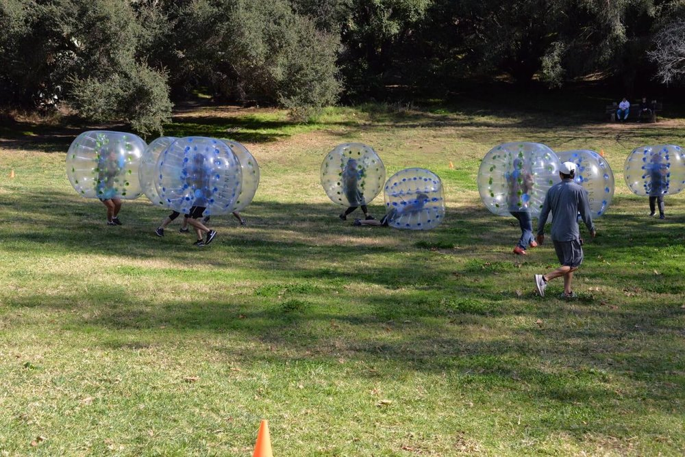 Bubble Soccer Rental - Player Bumped by Another