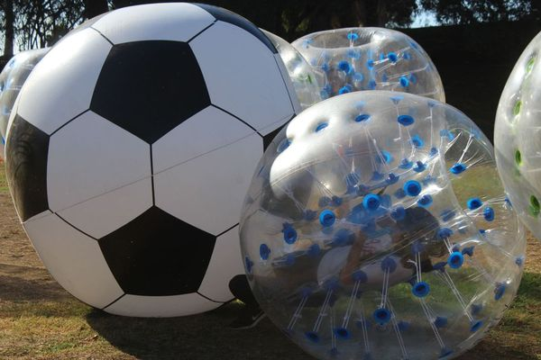 Bubble Soccer Rental - Bubble Ball Soccer Player smacked