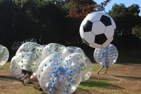 Bubble Soccer in Action | Bubble Soccer Rental in Los Angeles by AirballingLA