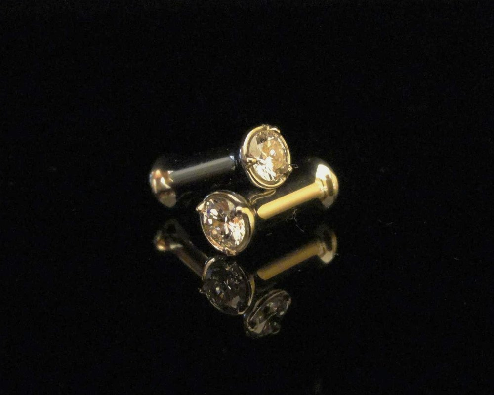 Diamond plugs that are very stealthy in simplicity and luxury. One of our favorite fringe projects.