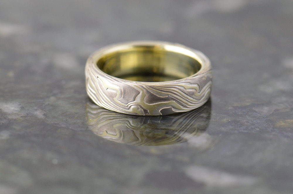 darvier-etched-burl-wedding-mokume-band.JPG