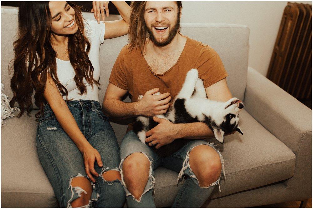 Spokane In Home Session | Siberian Husky Puppy | Cassie Trottier Photography