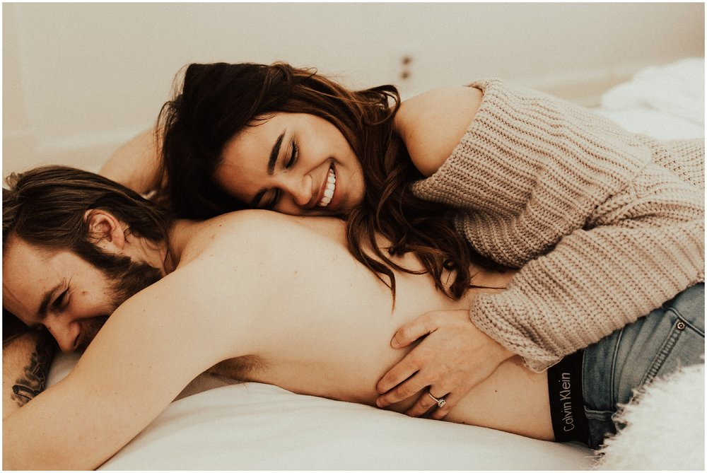 Intimate In Home Session | Cassie Trottier Photography | Liz Vaugin | Couples Goals |