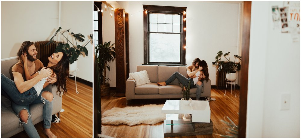 Downtown Spokane | Intimate In Home Session | Cassie Trottier Photography | Liz Vaugin | Couples Goals |