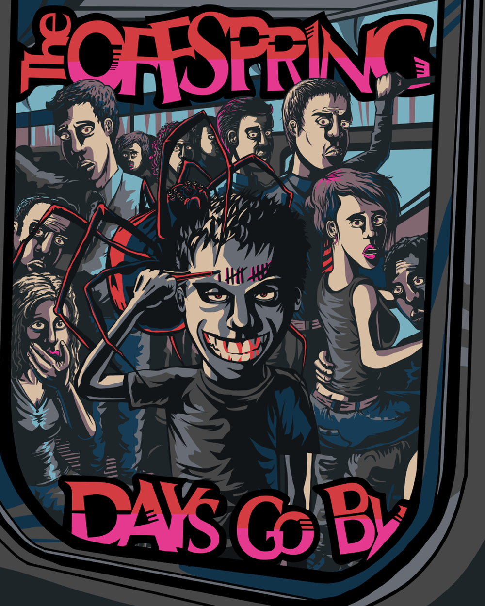 """Concept poster for the new album and tour by the Offspring """"Days Go By"""". This design was top 3 in voting and was shown to the band as a final option."""
