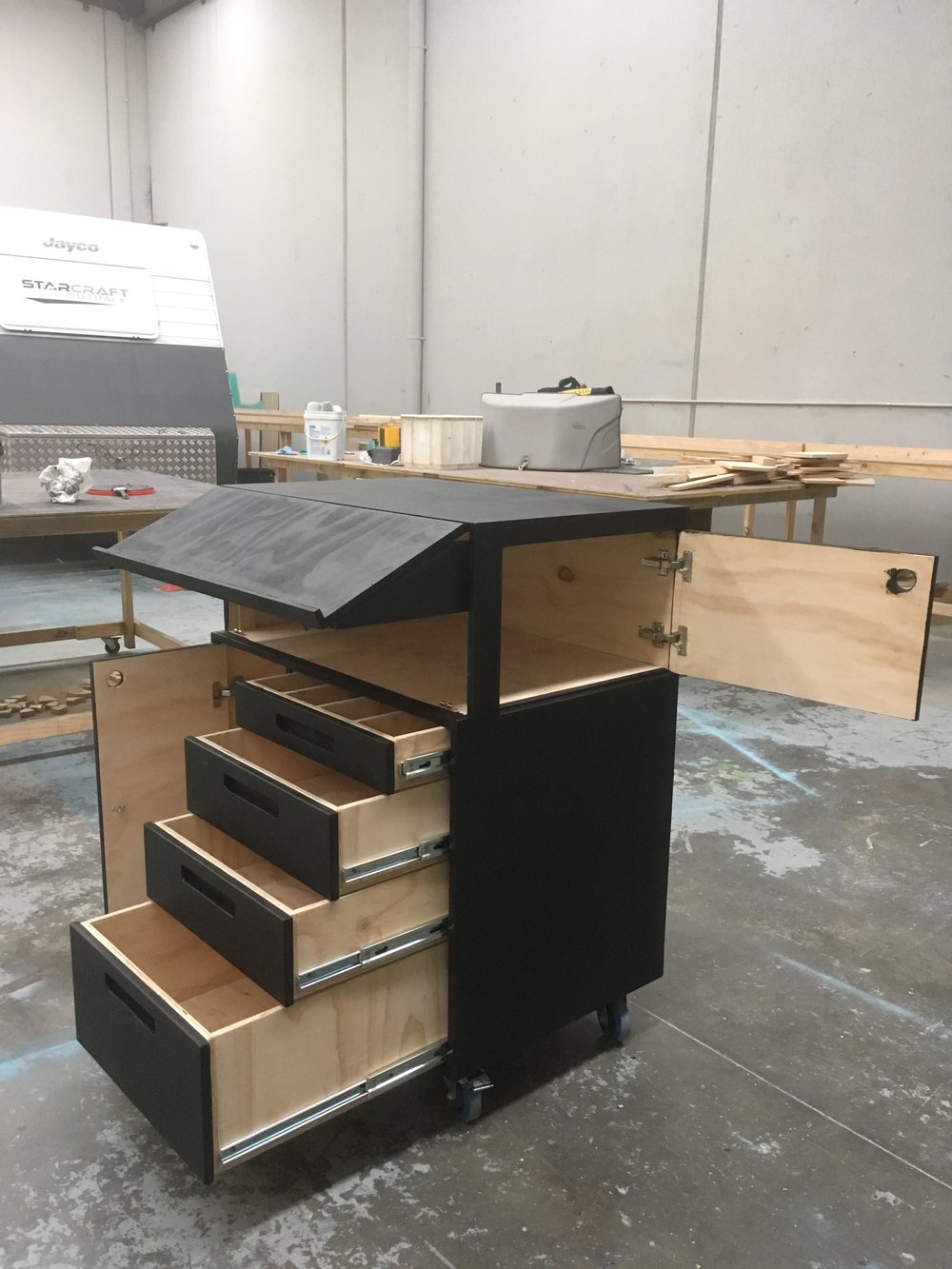 Beautiful The Carole King Musical - Stage Managers Desk (Open).JPG