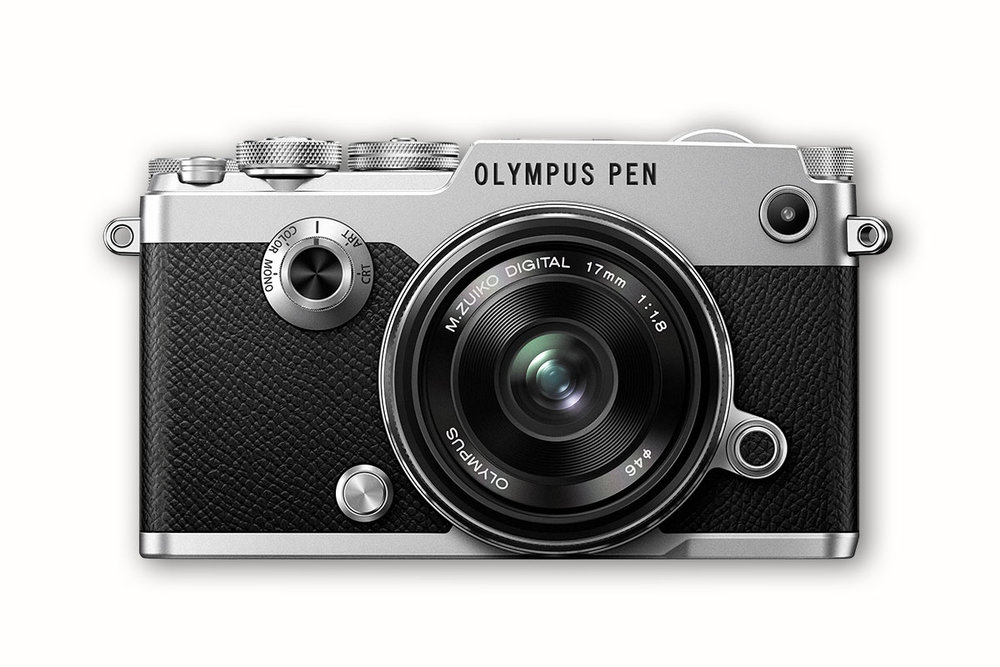 Olympus PEN-F camera with 17mm Zuiko lens