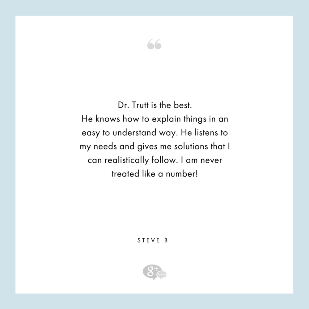 ## STEVE B - Tribeca Wellness - Dr. Trutt - Google Review.png