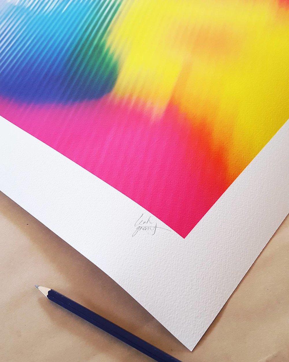 Signing Giclée Prints