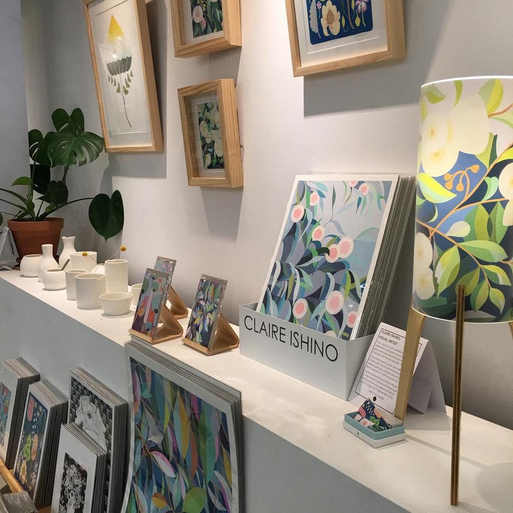 Claire Ishino's work on display at Brick + Mortar.