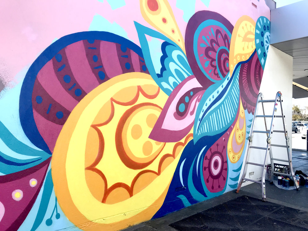 Mural by Leah Grant on Myrtle Street, Prospect.