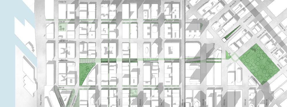 Master Plan: Battery Street Corridor (Credit: Miller Hull Partnership)