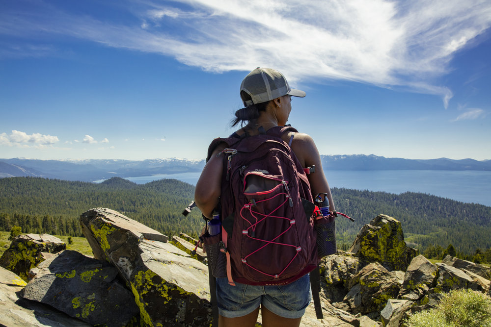 Taking in the views of the Tahoe Rim Trail in Nevada