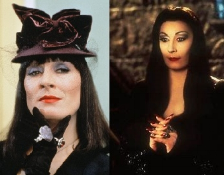 Every 30 episodes, we celebrate an actress we love with a double feature. Every October, we celebrate our darker sides with Schlocktoberfest. There is only one woman with the magnitude of talent, charisma, and guts to fulfill both criteria. Her name is Anjelica Huston. She is a spellbinding, scene-stealing tour-de-force capable of portraying a benevolent matriarch or a malevolent enchantress. Sometimes in the same role! Join us as we consider her delightfully grim starring roles in  The Witches  (1990) and  The Addams Family  (1991) on this ghoulishly macabre episode of Hex Rated BOO!vies!