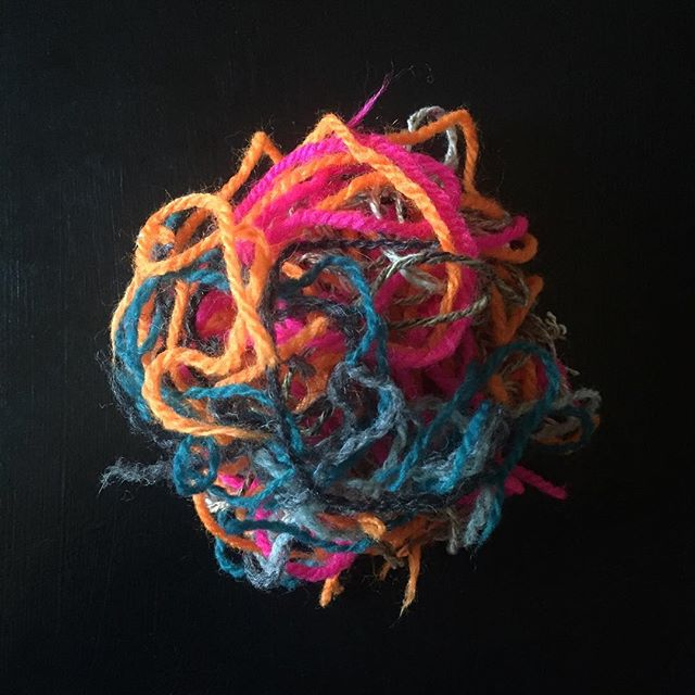 Ends. That means I can begin something new. . . . #sockknitting #sockknittersofinstagram #handknitting #knittersofinstagram #slowfashion #designdevelopment #patternwriting #neon #dpnlove #jamiesonsspindrift #scraps