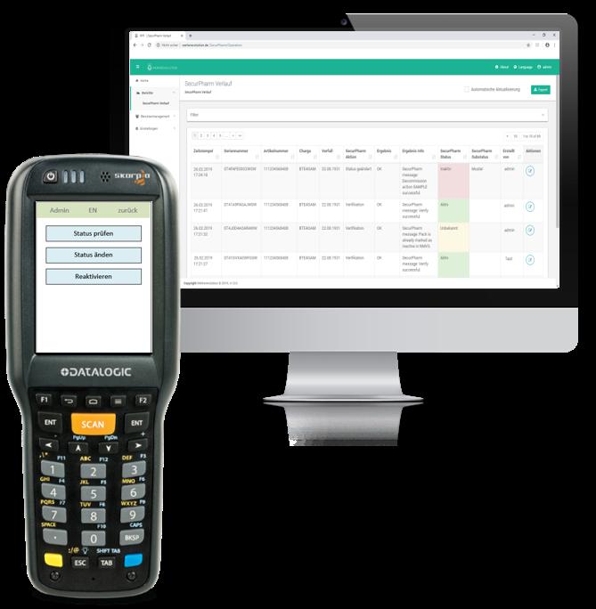 Passende Scanner erhalten Sie z.B. bei    Datalogic   .