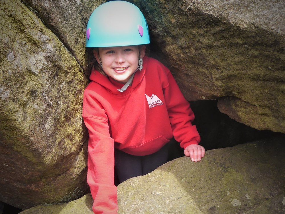 Weaselling - The natural playground. Wriggle and worm your way through the natural caves and crevices of the Peak District. Leave your best clothes behind, your not getting out of this one clean. Weaselling is a great way to have fun, communicate and push comfort levels.