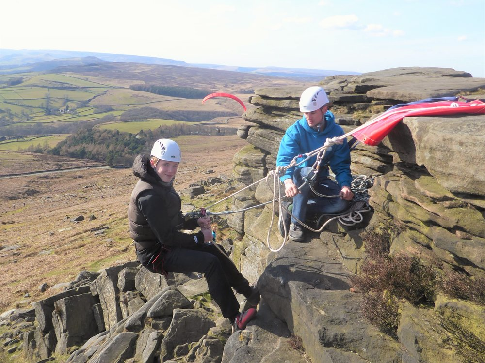 Abseil - A thrilling abseil from the top of one of our local edges.
