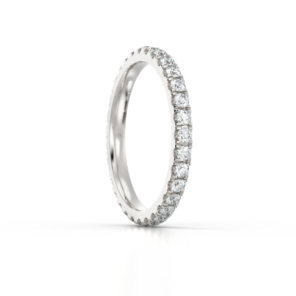 Platinum Micro Set Eternity Ring | Hatton Garden