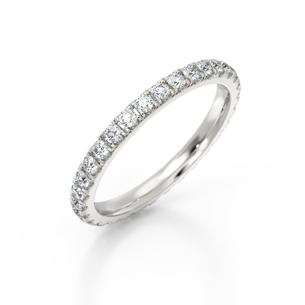 Platinum Micro set diamond eternity ring | Hatton Garden
