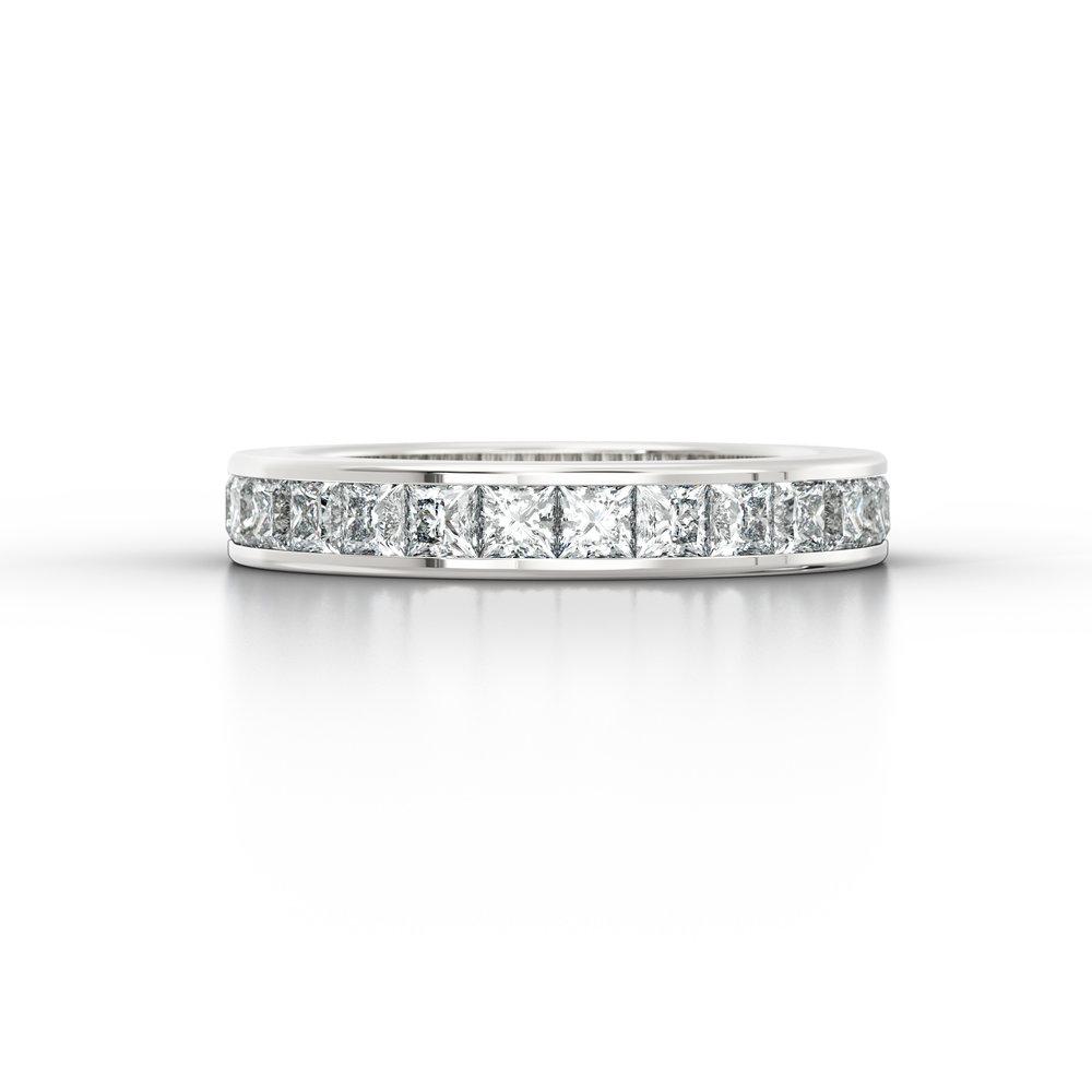 Princess Cut Channel Set Diamond Eternity Ring | Hatton Garden