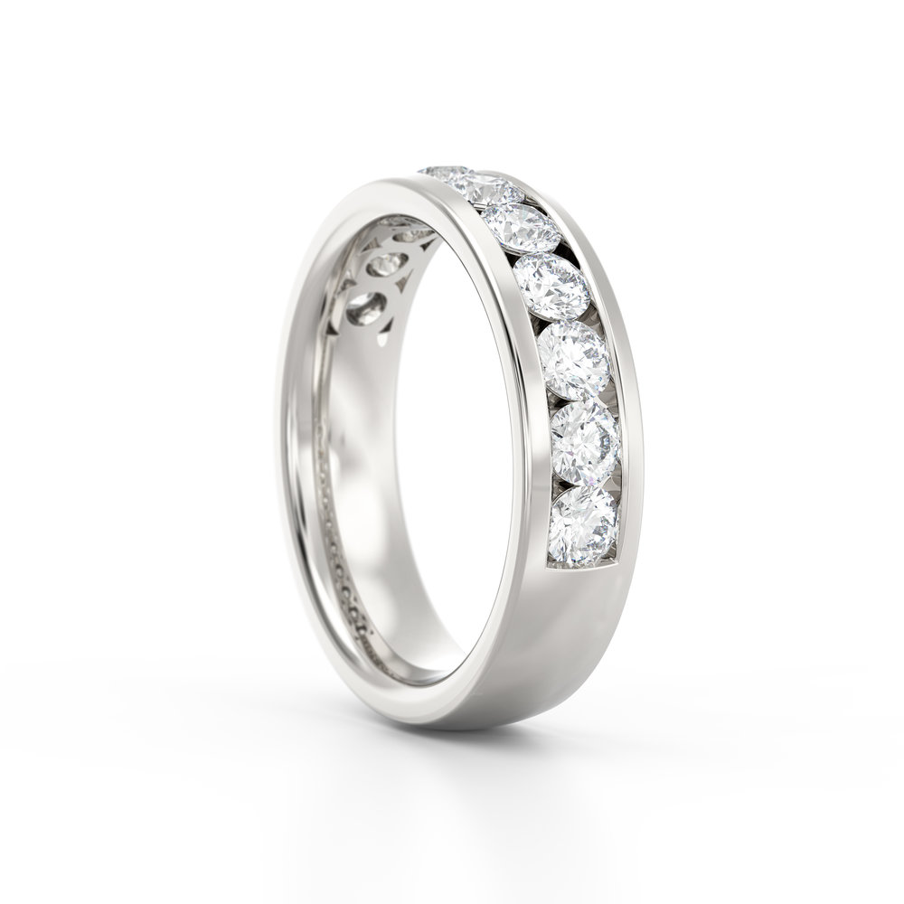 Brilliant cut channel set eternity ring