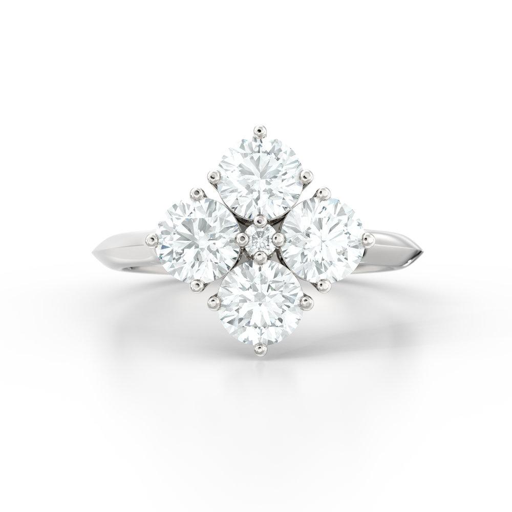 Brilliant Cut Four Stone Engagement Ring | Hatton Garden, London