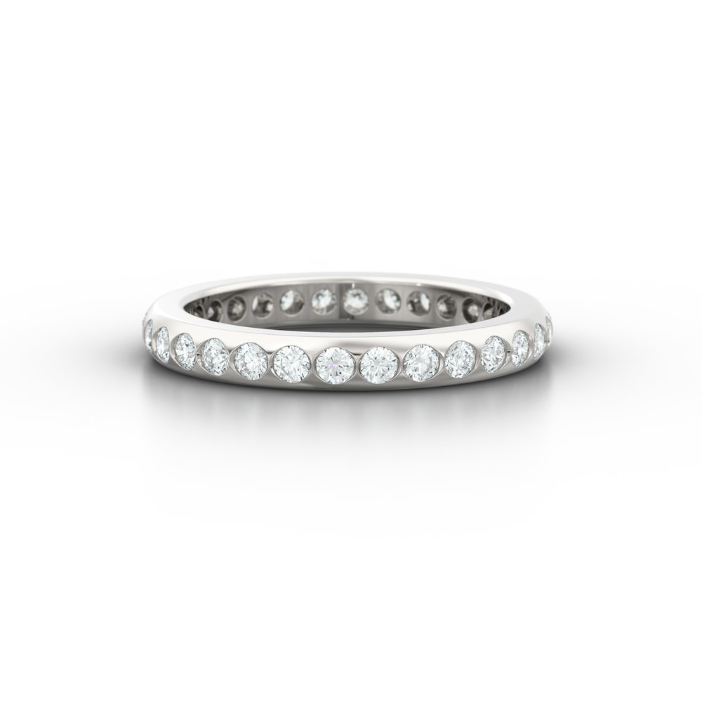 Rub Over Set Diamond Eternity Ring | Hatton Garden