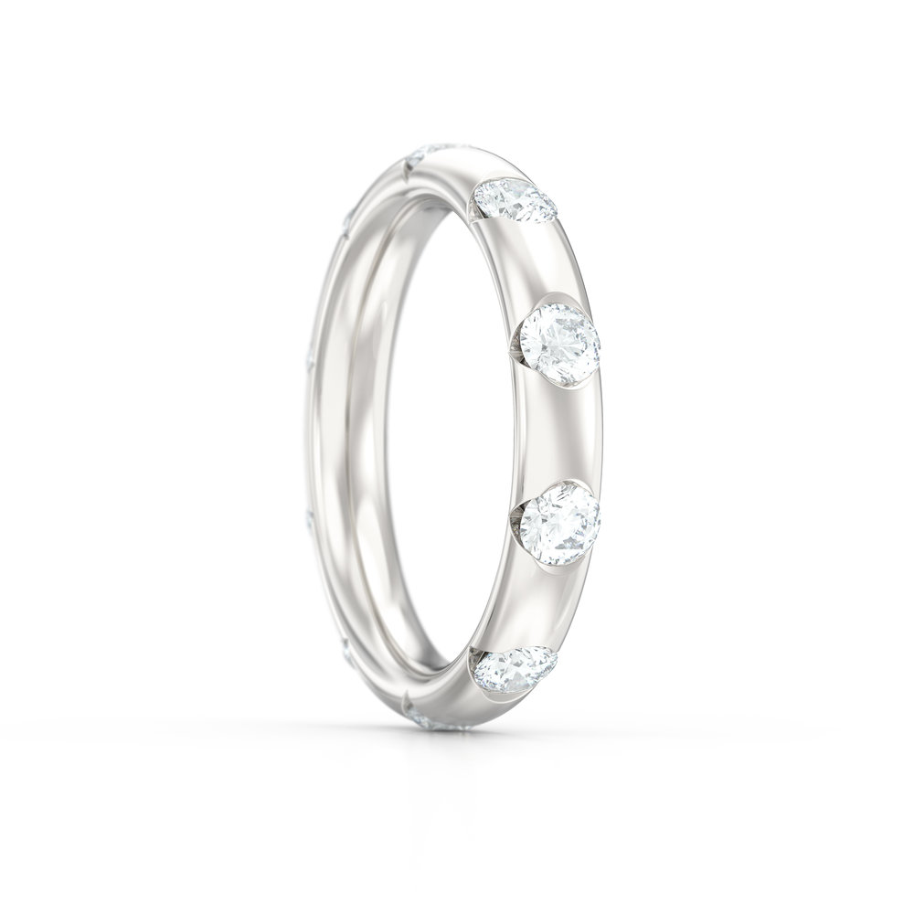 Half Rub Over Diamond Eternity Rings | Hatton Garden Jewellers