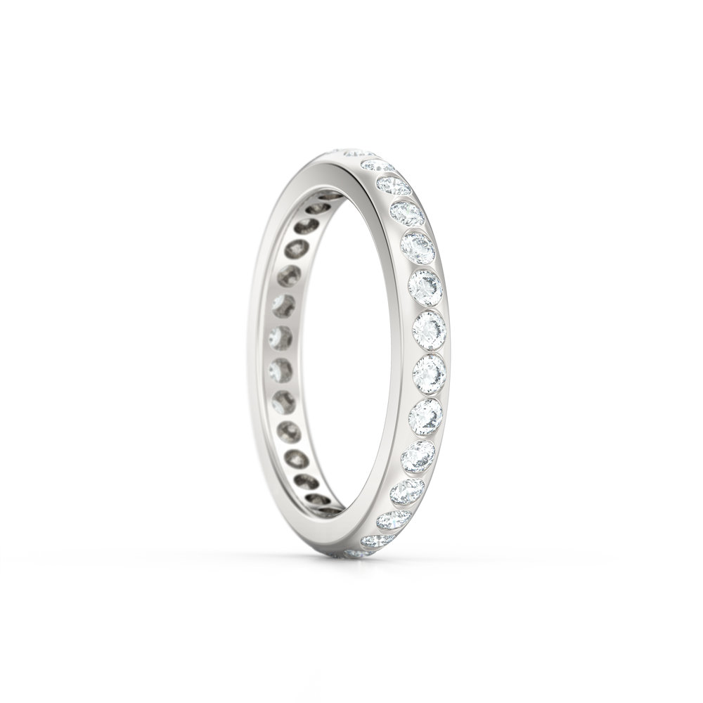 Gypsy Set Rub Over Eternity Ring | Hatton Garden Jewellers