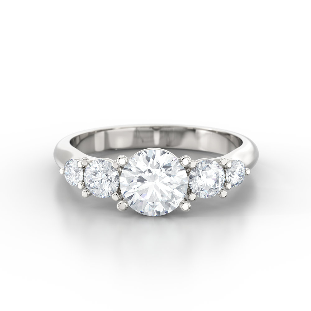 Brilliant Cut Five Stone Engagement Rings | Hatton Garden, London